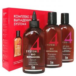 Комплекс от выпадения волос System 4 Sim Sensitve 3 средства 2x215 + 200 мл 50403