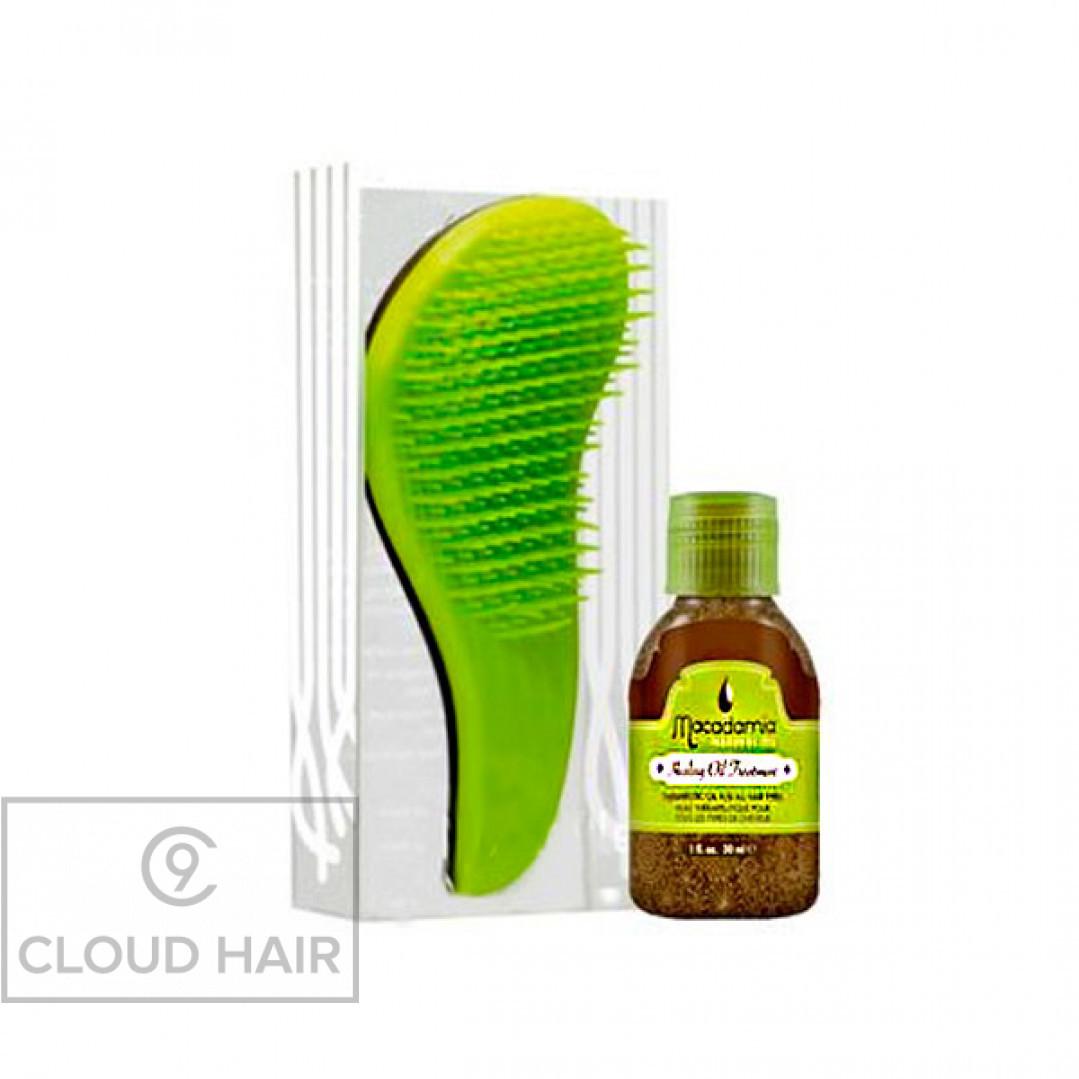 Набор Macadamia Natural Oil Расческа и Уход No Tangle Brush & Healing Oil Treatment M3310-01