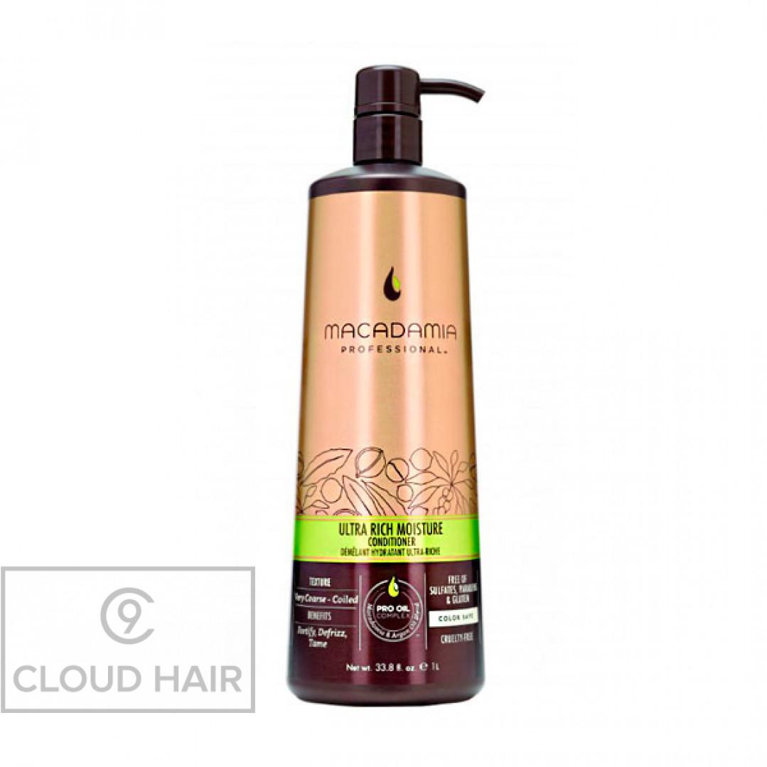 Кондиционер увлажняющий для жестких волос Macadamia Professional Ultra Rich Moisture Conditioner 1000 мл 200302
